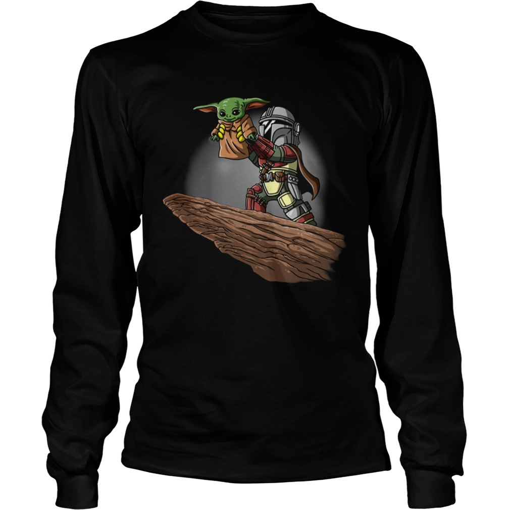 The Mandalorian Boba Fett And Baby Yoda  LongSleeve