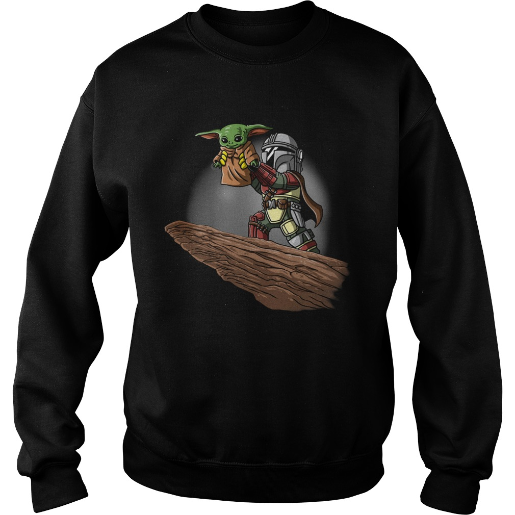The Mandalorian Boba Fett And Baby Yoda  Sweatshirt