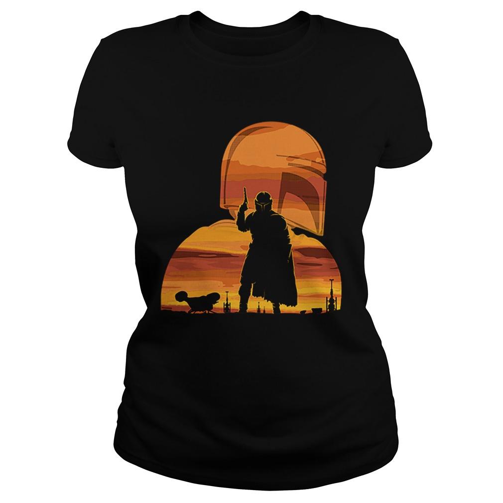 The Mandalorian Gunfighter Has Landed Star Wars Sunset  Classic Ladies