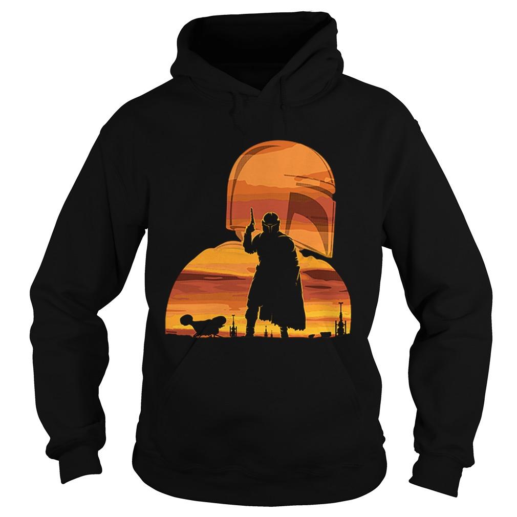 The Mandalorian Gunfighter Has Landed Star Wars Sunset  Hoodie