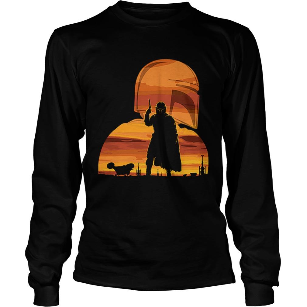 The Mandalorian Gunfighter Has Landed Star Wars Sunset  LongSleeve