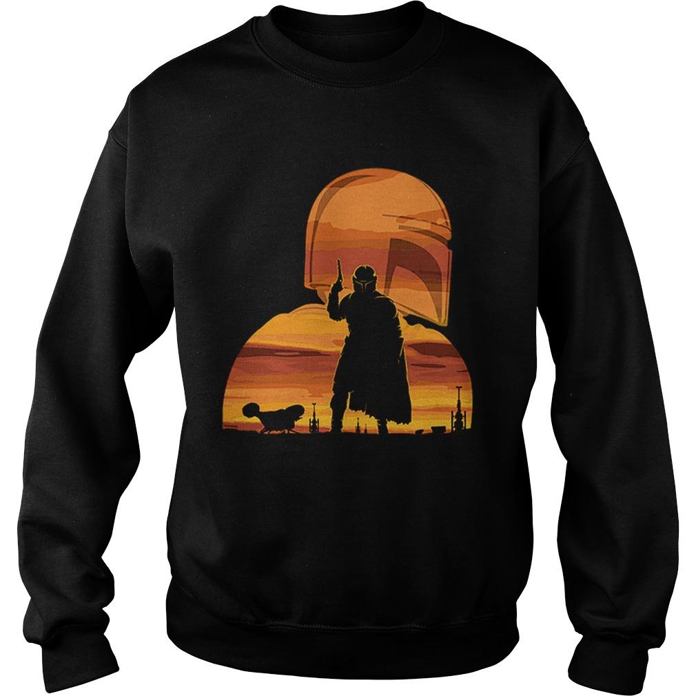 The Mandalorian Gunfighter Has Landed Star Wars Sunset  Sweatshirt