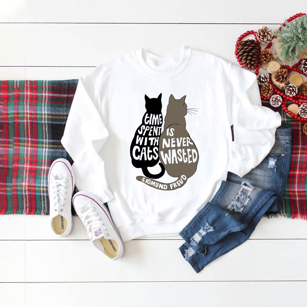 Time Spent With Cats is Never Wasted Sigmund Freud Shirt