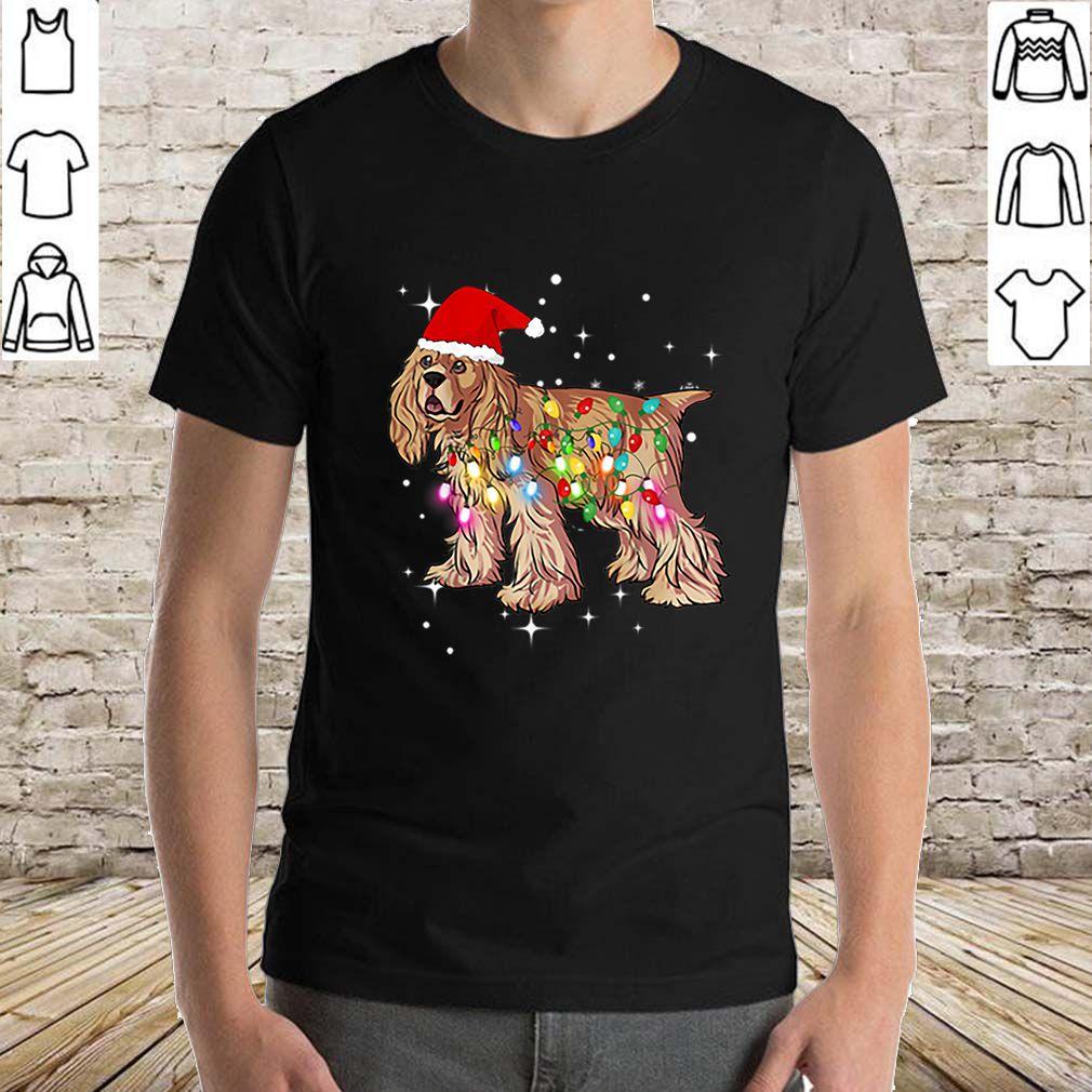 Top Christmas Lights Cocker Spaniel Dog sweater