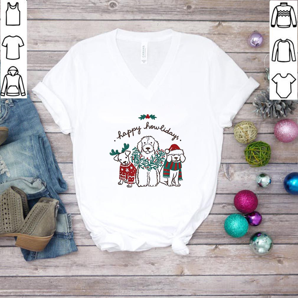 Top Happy Howlidays Funny Dog Christmas Gift sweater