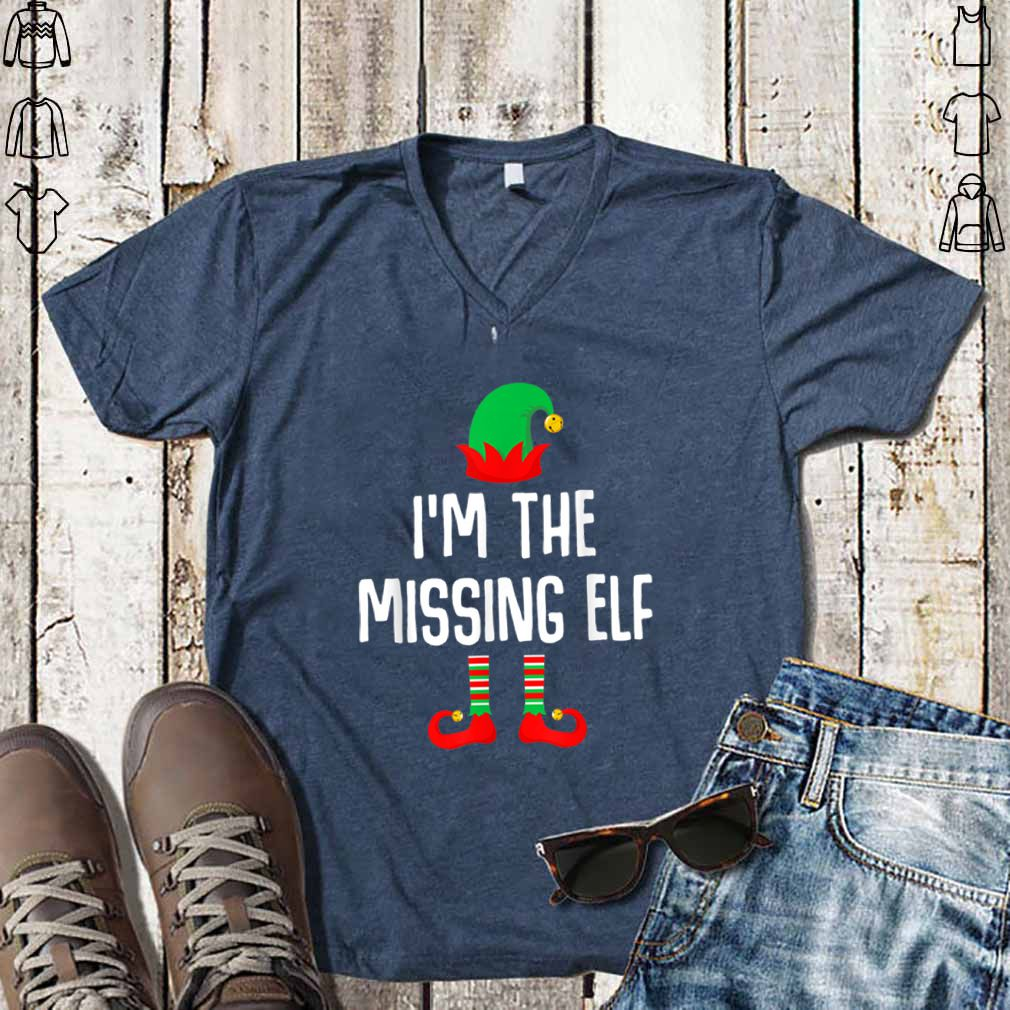 Top I'm The Missing Elf Matching Family Group Christmas shirt