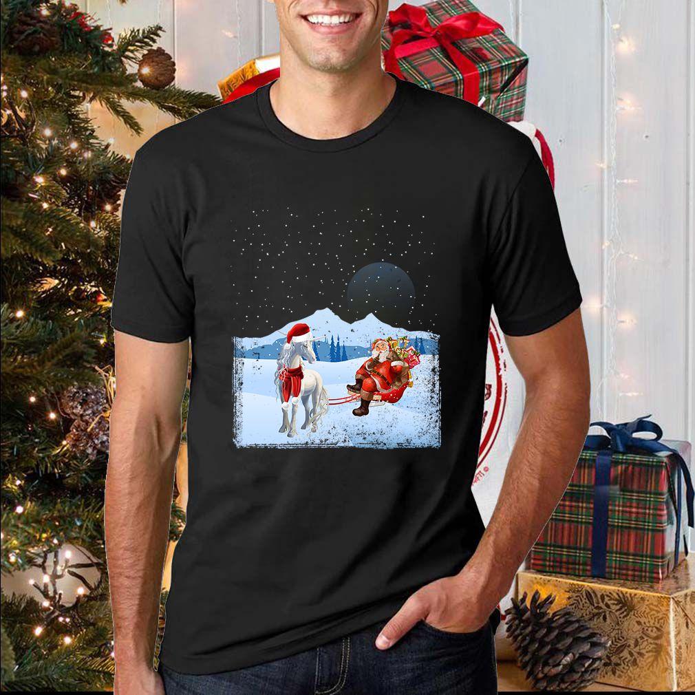 Unicorn And Santa Claus T-Shirts