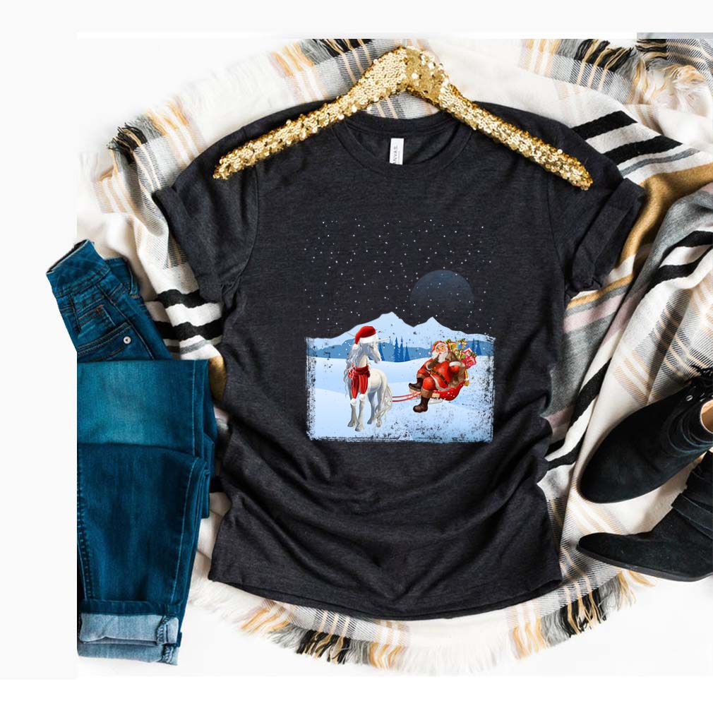 Unicorn And Santa Claus T-