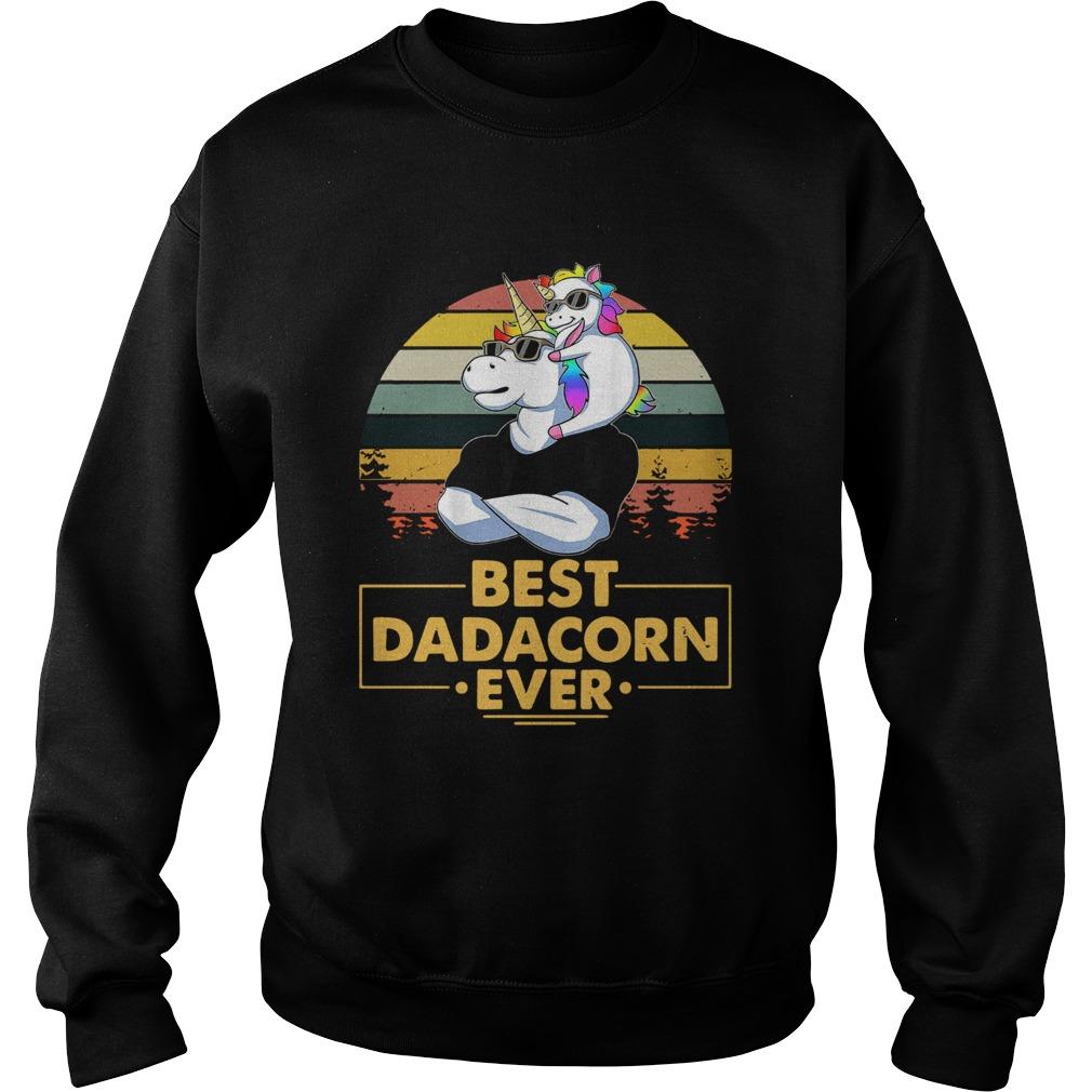Unicorn Best Dadacorn Ever Vintage  Sweatshirt