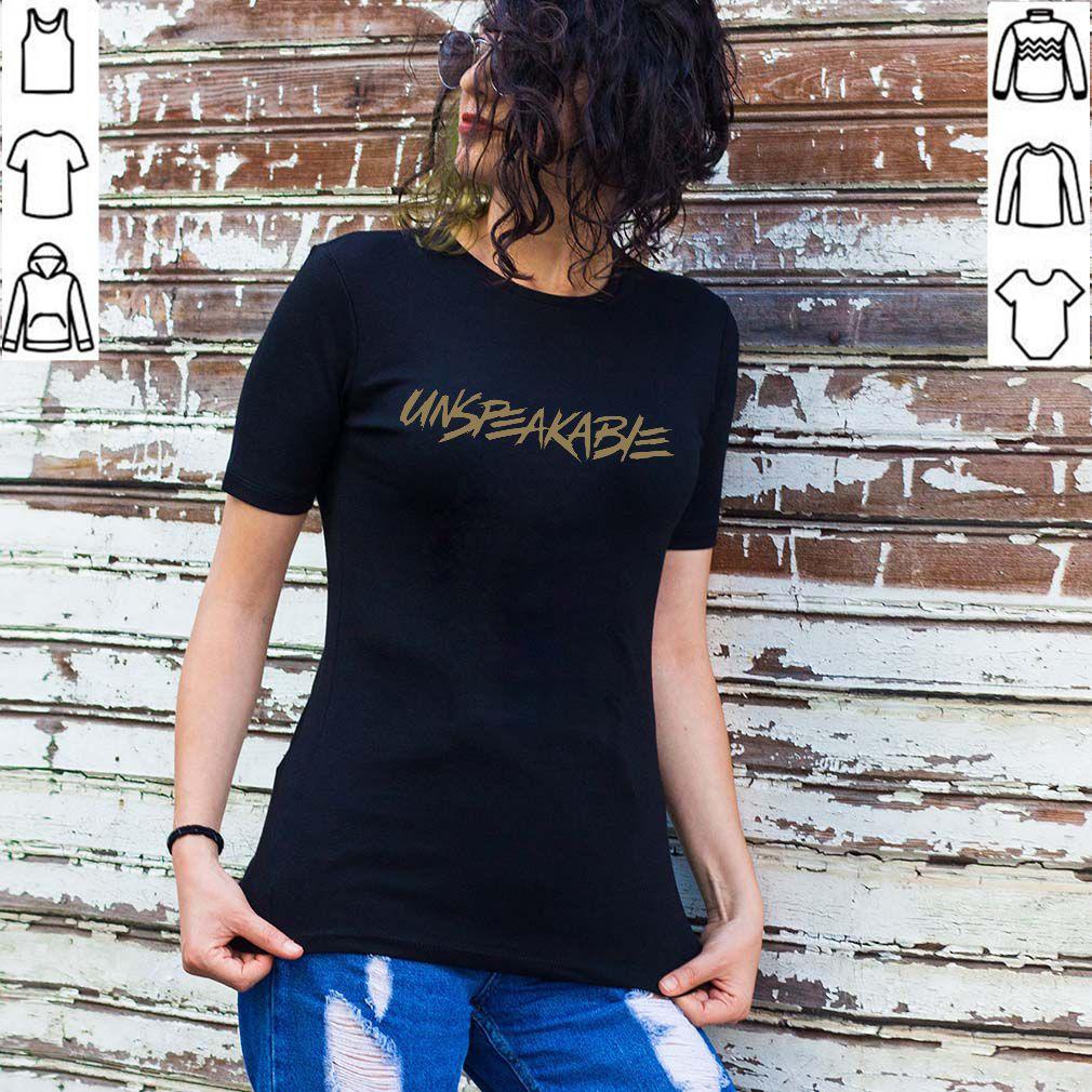 Unspeakable Merch Gold Font For T Shirt