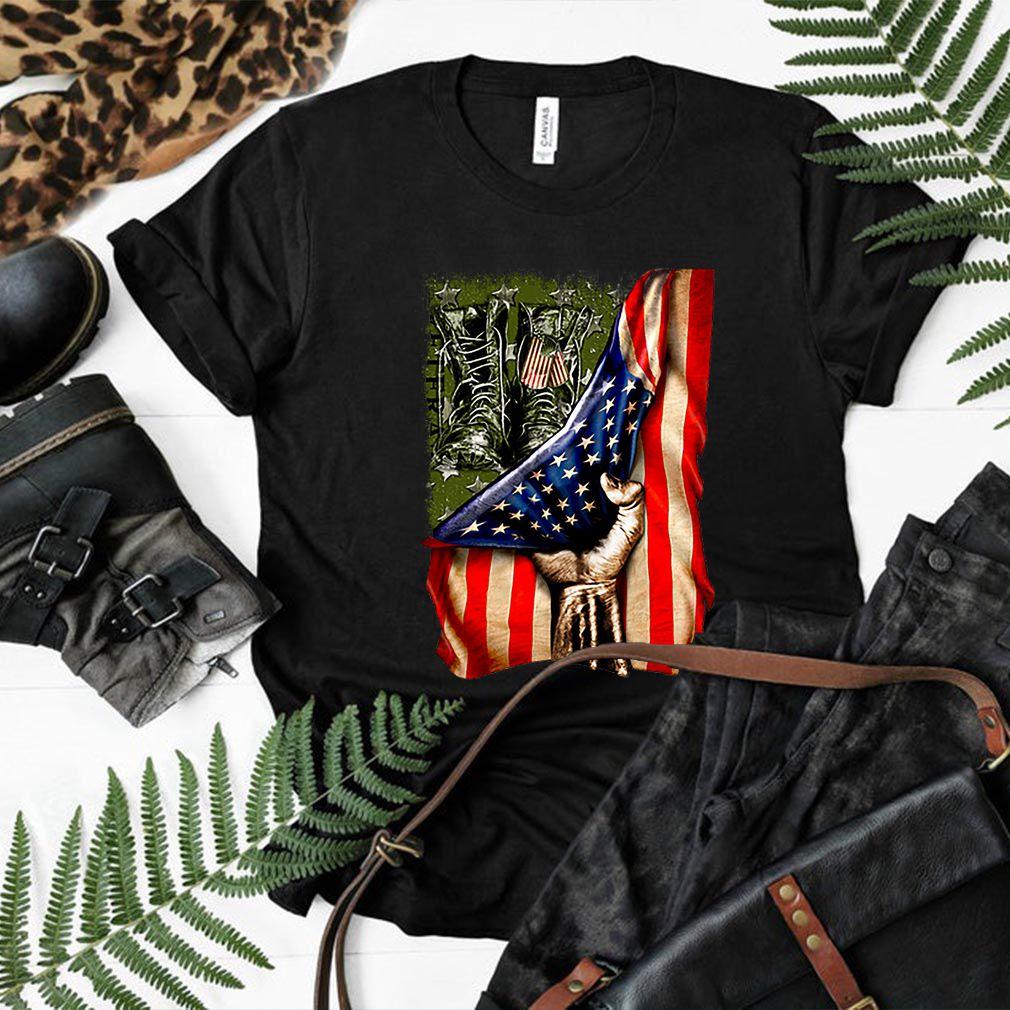 Veteran your name American flag shirt