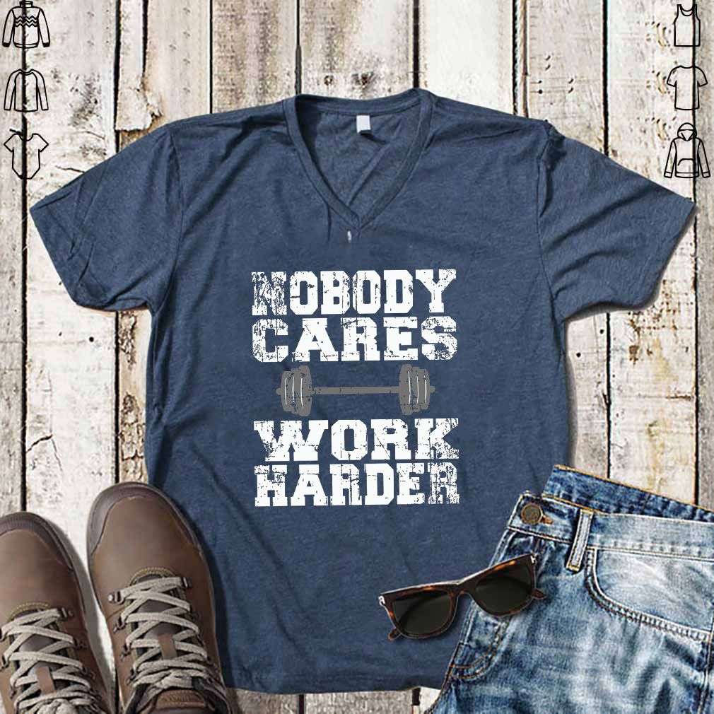Vintage Nobody Cares Work Harder Distressed Short-Sleeve Unisex T-Shirt