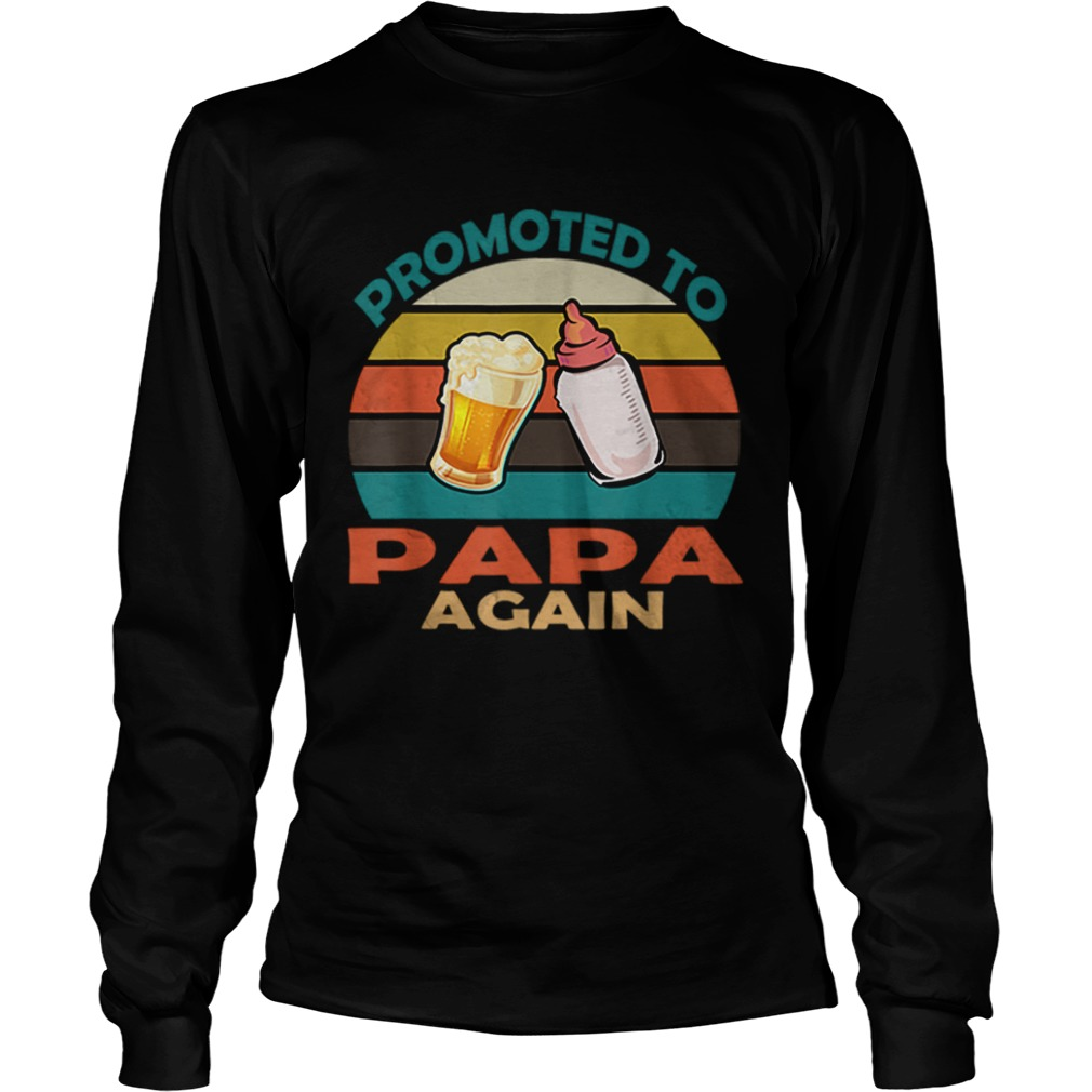 Vintage Promoted to Papa Again Christmas  LongSleeve