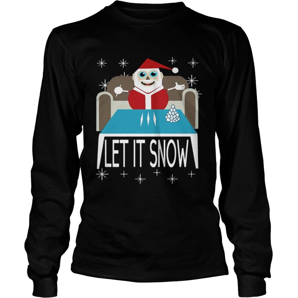 Walmart Cocaine Santa Let It Snow  LongSleeve