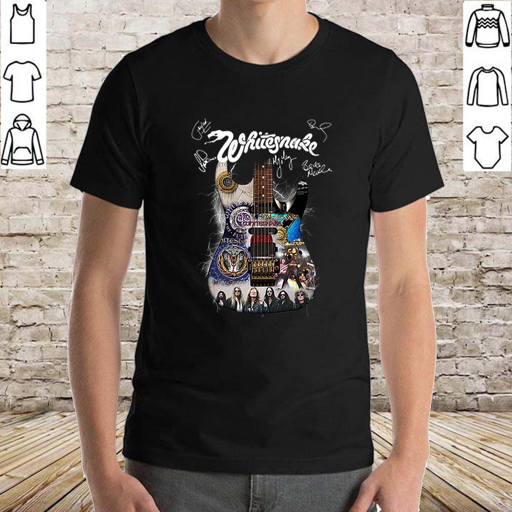 Whitesnake all signature guitar shirt