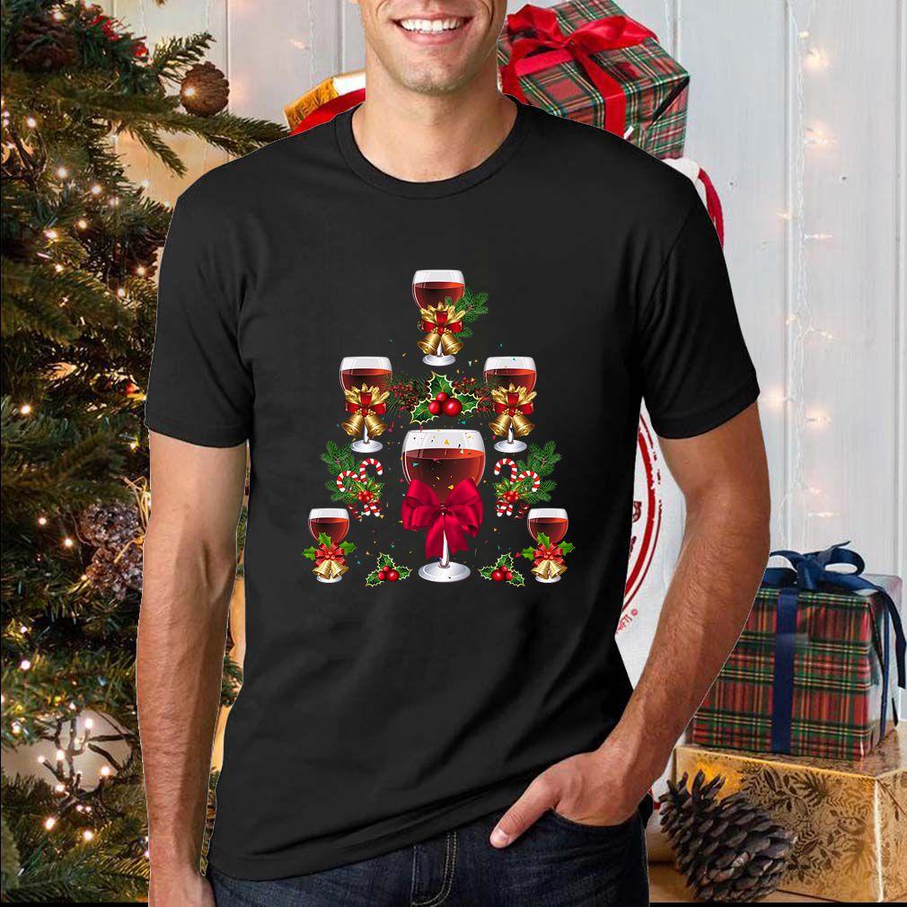 Wine Christmas Tree T-Shirt