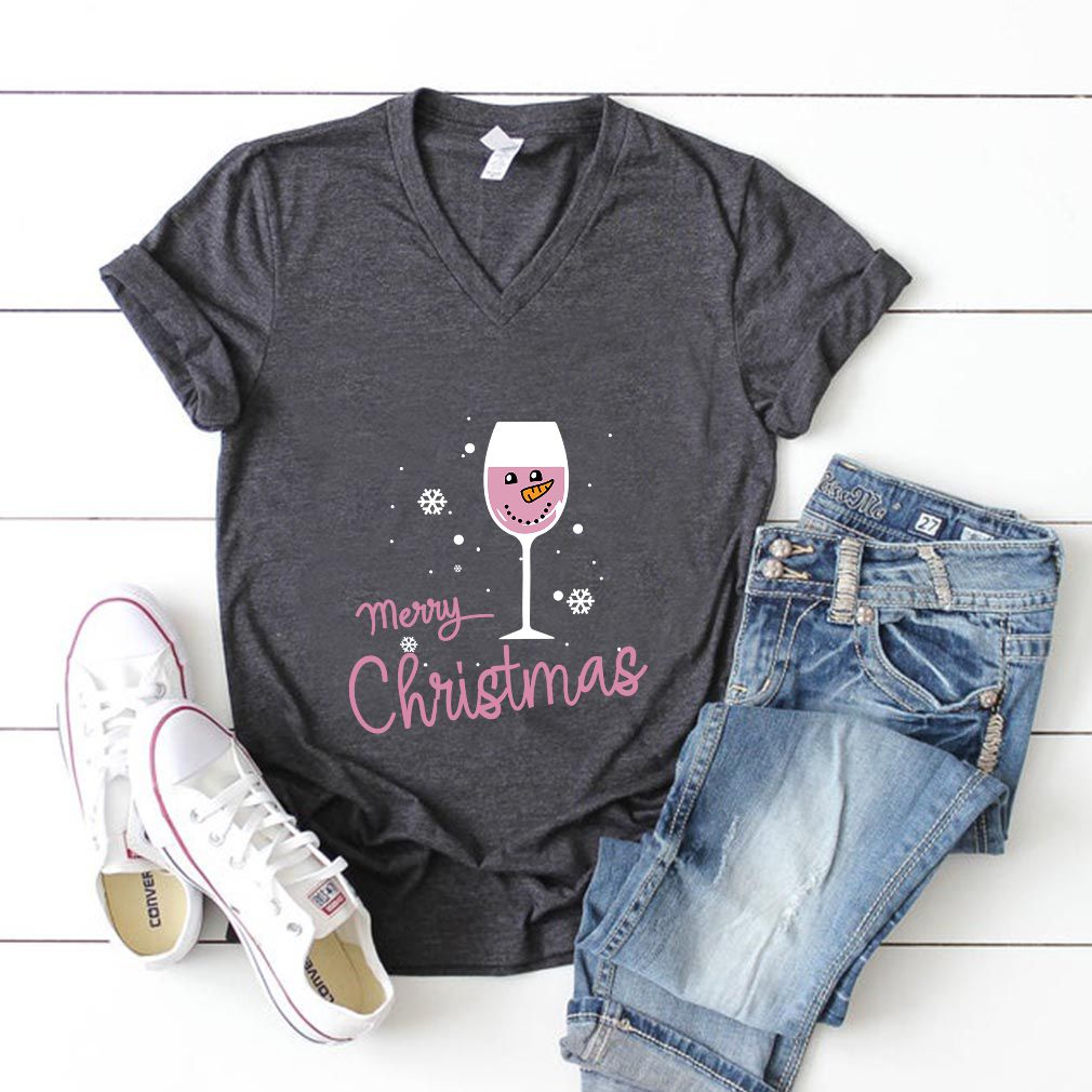 Wine Snowman Merry Christmas Gift For Drinking Lover T
