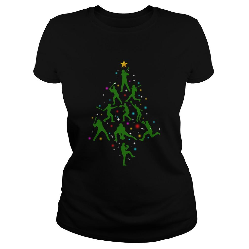 Xmas Baseball Christmas Tree  Classic Ladies
