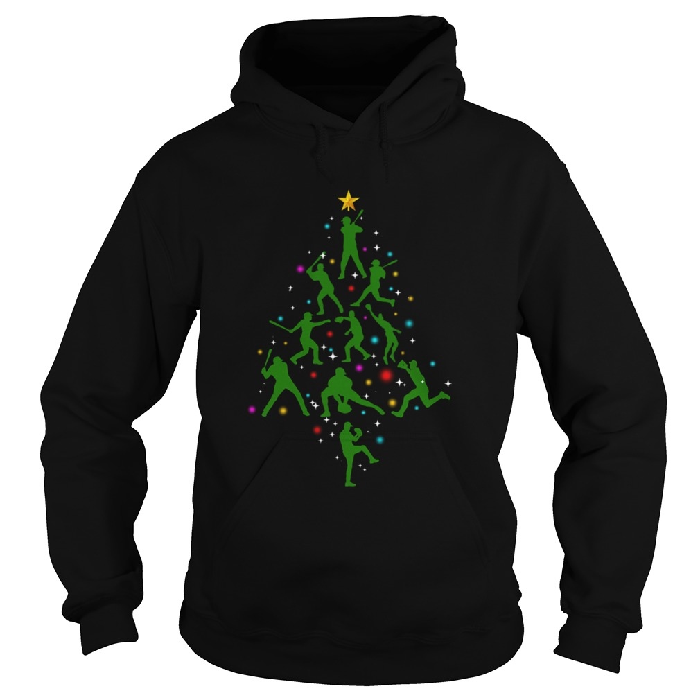 Xmas Baseball Christmas Tree  Hoodie