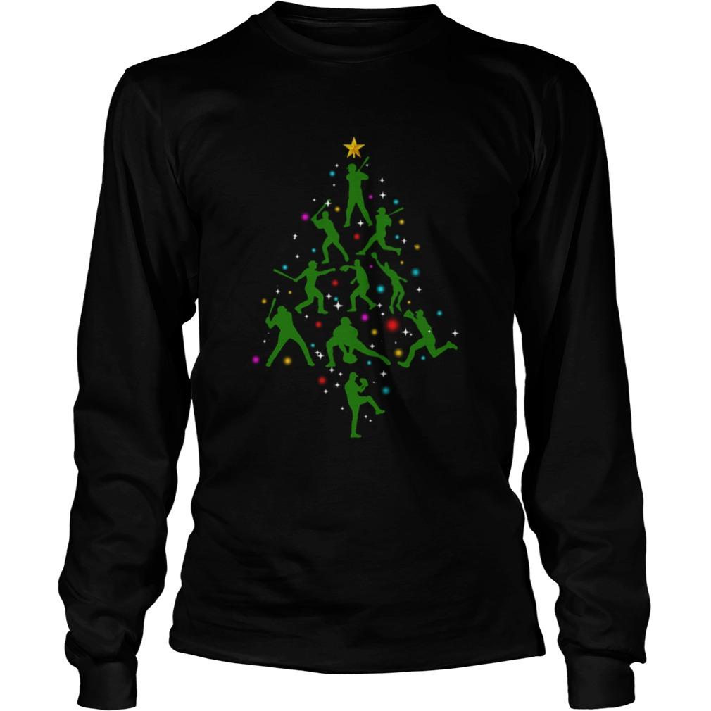Xmas Baseball Christmas Tree  LongSleeve