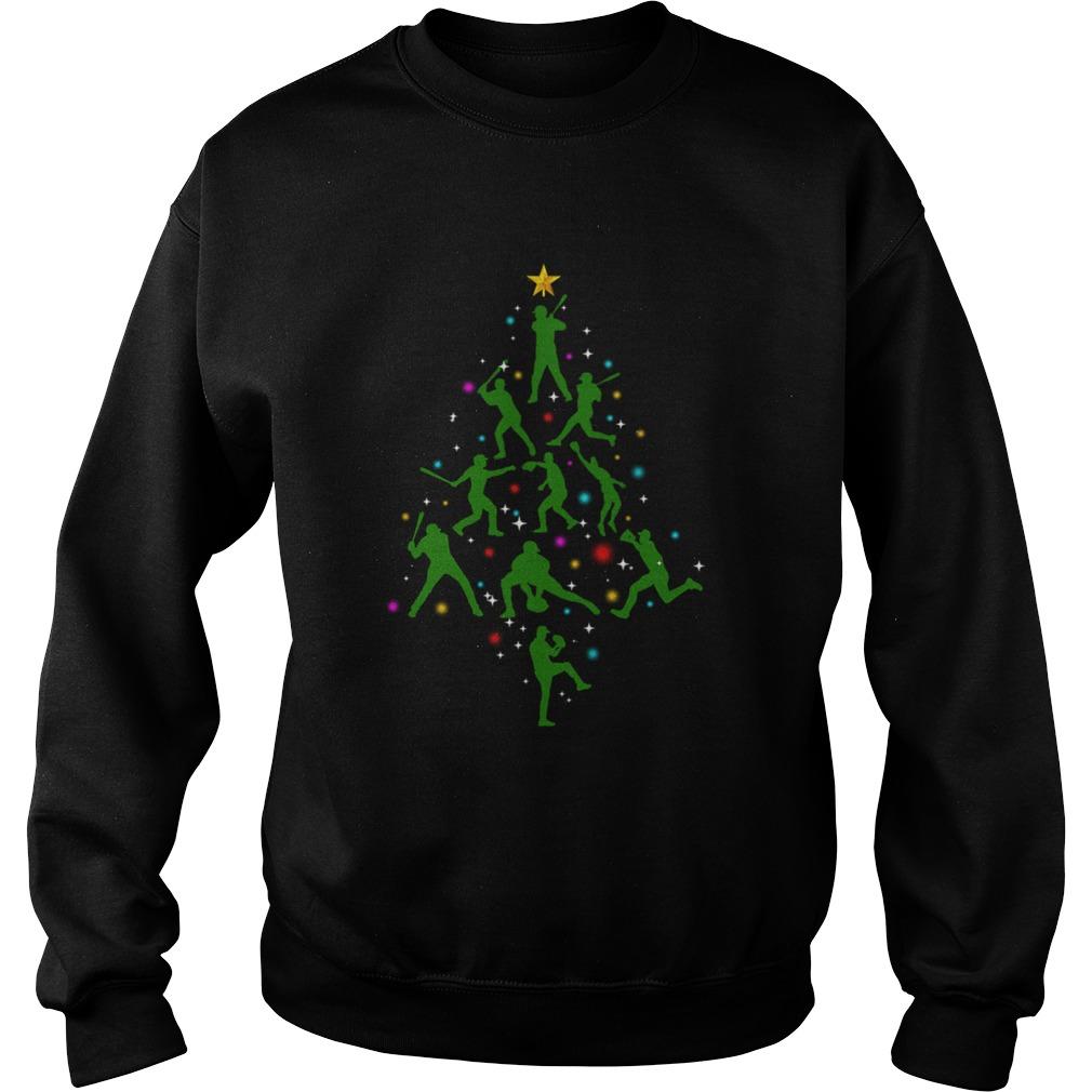 Xmas Baseball Christmas Tree  Sweatshirt