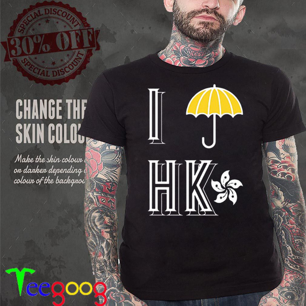 Yellow Umbrella I Protest Hong Kong flag shirt
