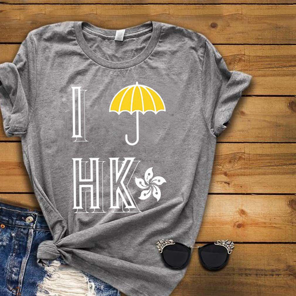 Yellow Umbrella I Protest Hong Kong flag shirt