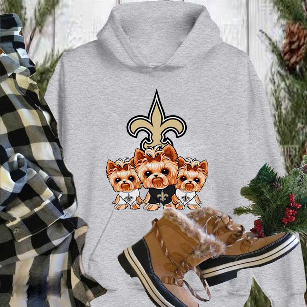 Yorkshire Terrier New Orleans Saints shirt