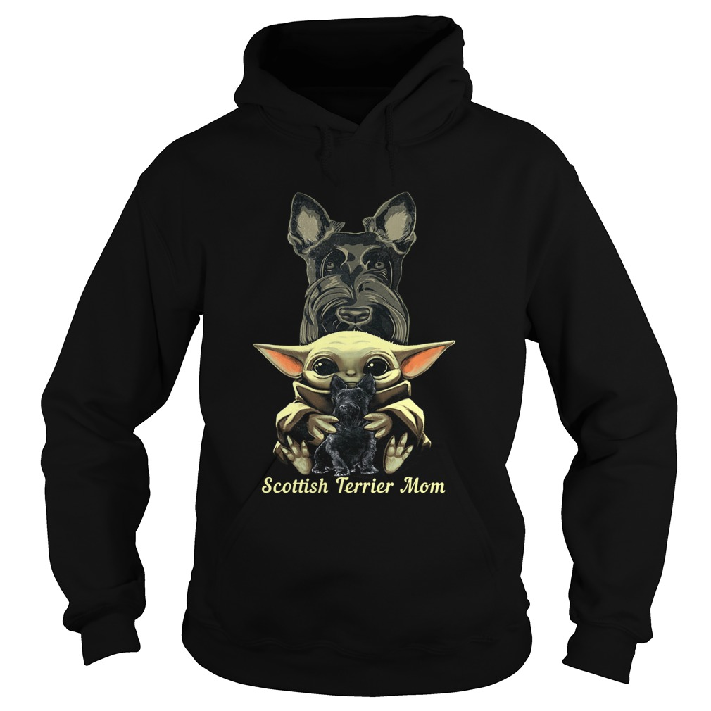 Baby Yoda Scottish Terrier Mom  Hoodie