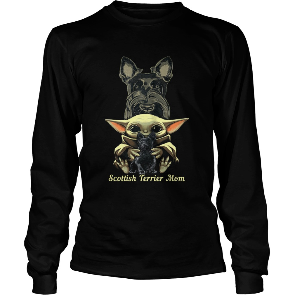 Baby Yoda Scottish Terrier Mom  LongSleeve