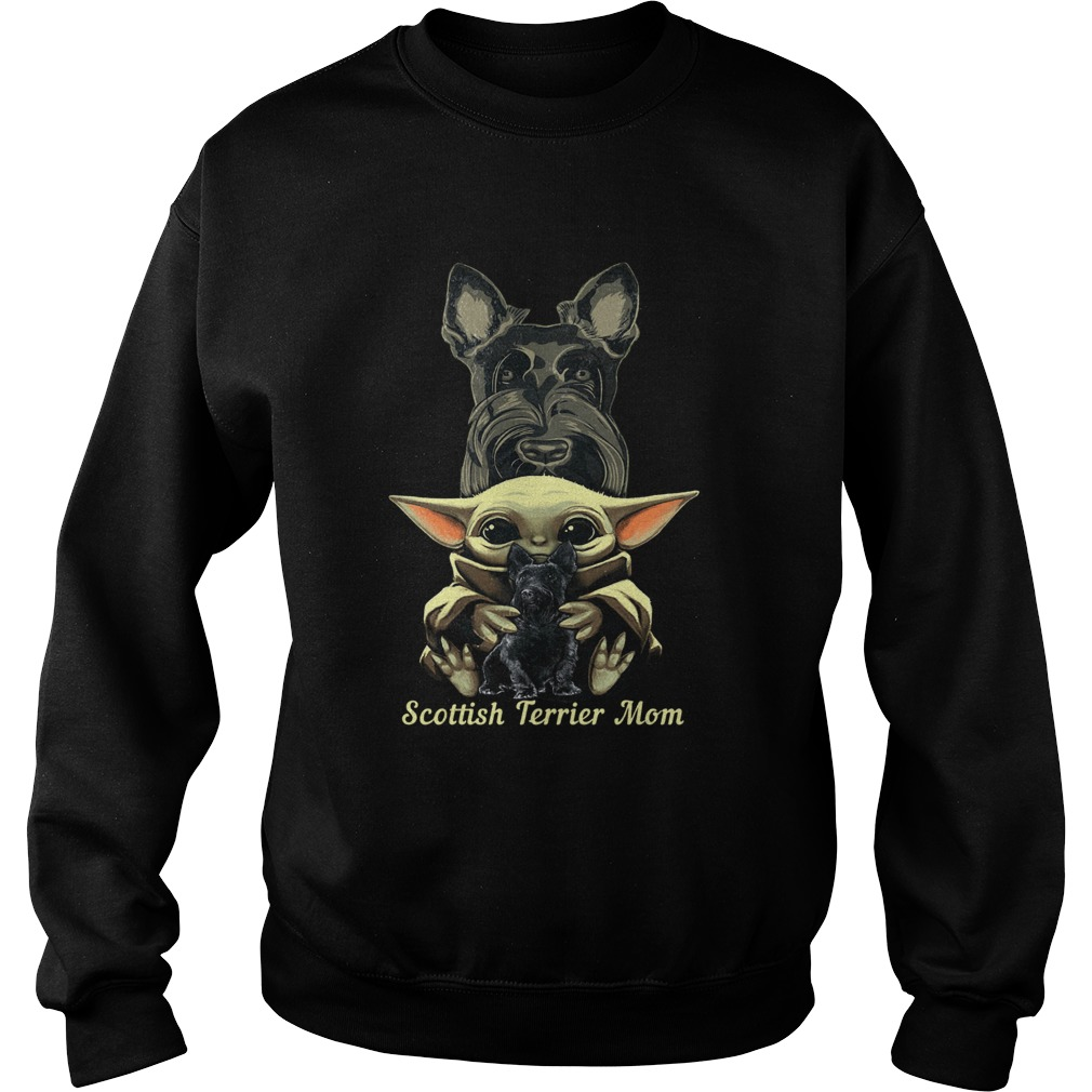Baby Yoda Scottish Terrier Mom  Sweatshirt
