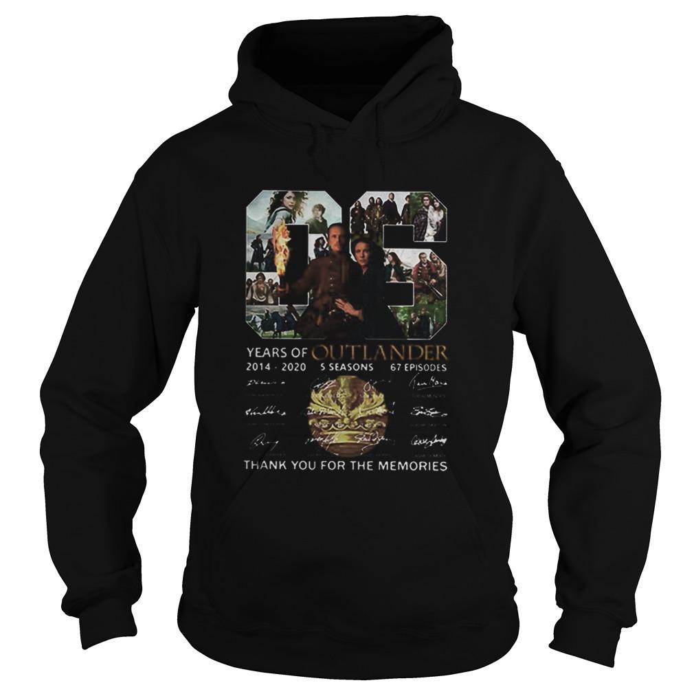 06 Years Of Outlander 2014 2020 Signatures  Hoodie