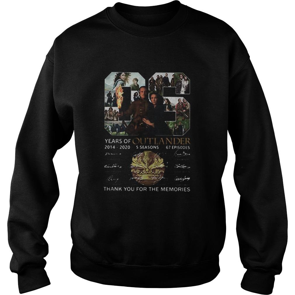 06 Years Of Outlander 2014 2020 Signatures  Sweatshirt