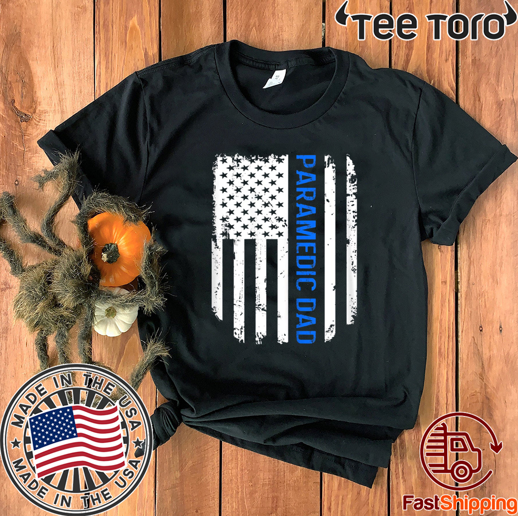 American Flag Proud Paramedic Dad T-Shirt