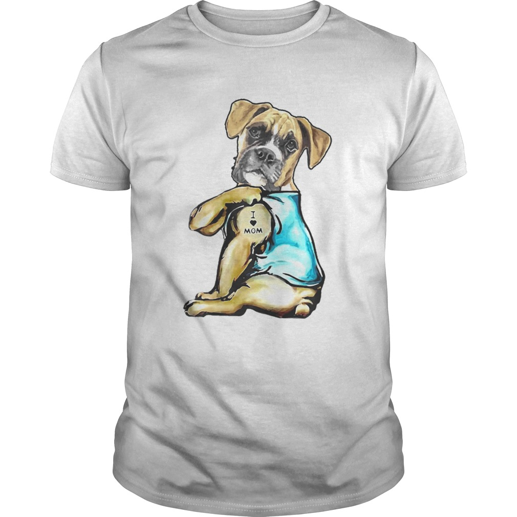 Boxer Tattoos I Love MOM Funny Gift Mothers Day  Unisex