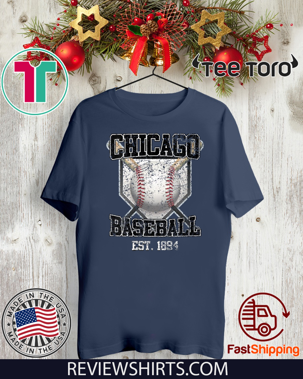 Vintage Chicago Baseball Est 1894 Shirt T-Shirt