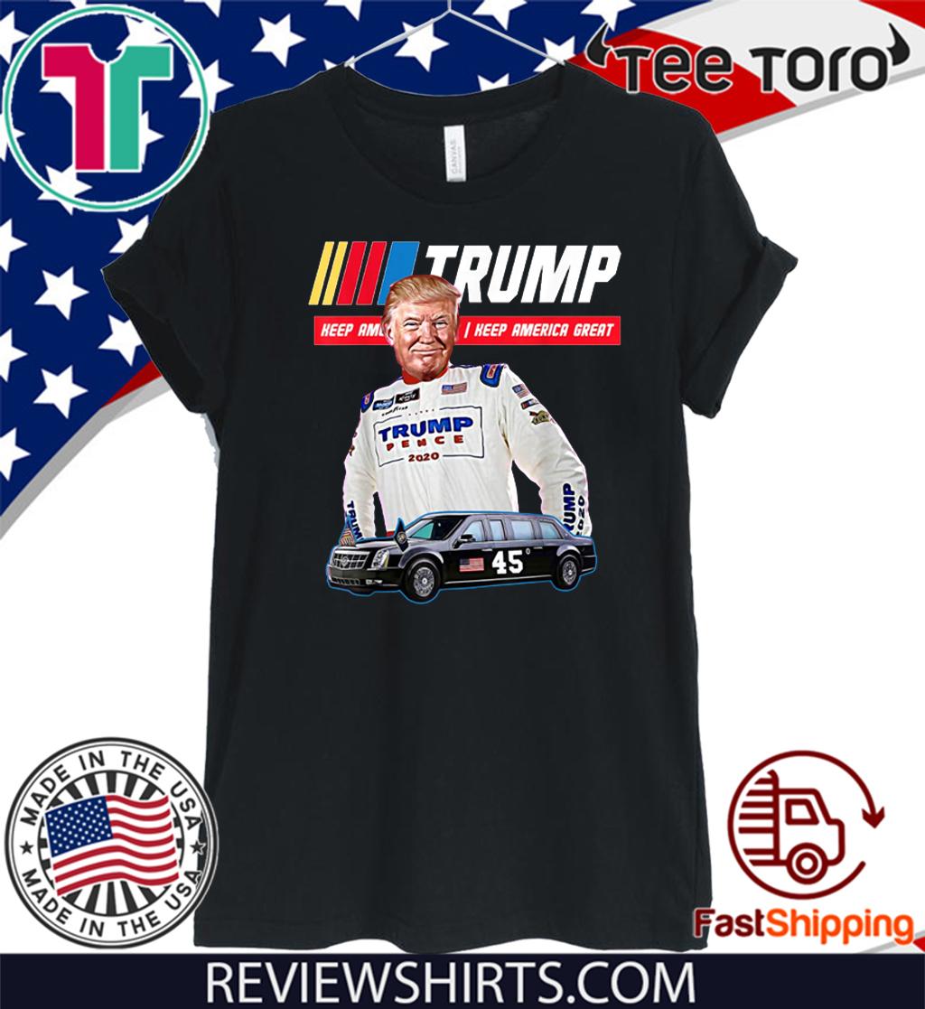 Trump The Beast Presidential Limo Race Car #45 Tee Shirt