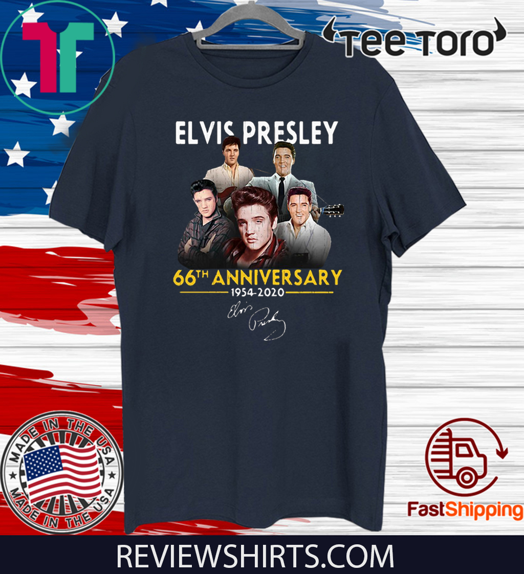 Elvis Presley 66th Anniversary 1975 – 2020 signatures Tee Shirt