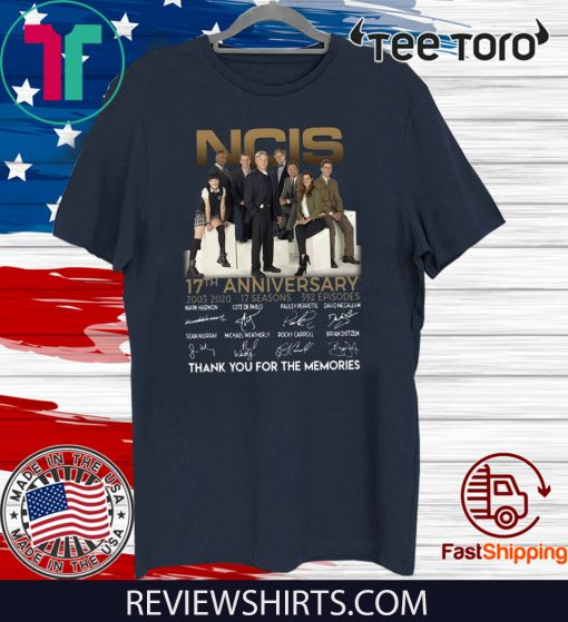 NCIS 17th anniversary 2003 – 2020 thank you for the memories Official T-Shirt