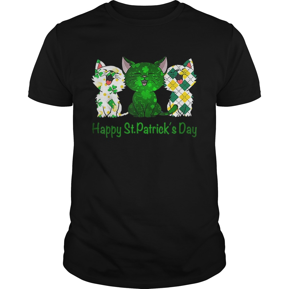 Three Cats Pet Cat lovers Happy St Patricks day  Unisex