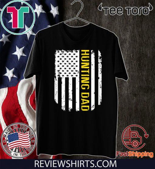 Vintage American Flag Proud Hunting Dad T-Shirt
