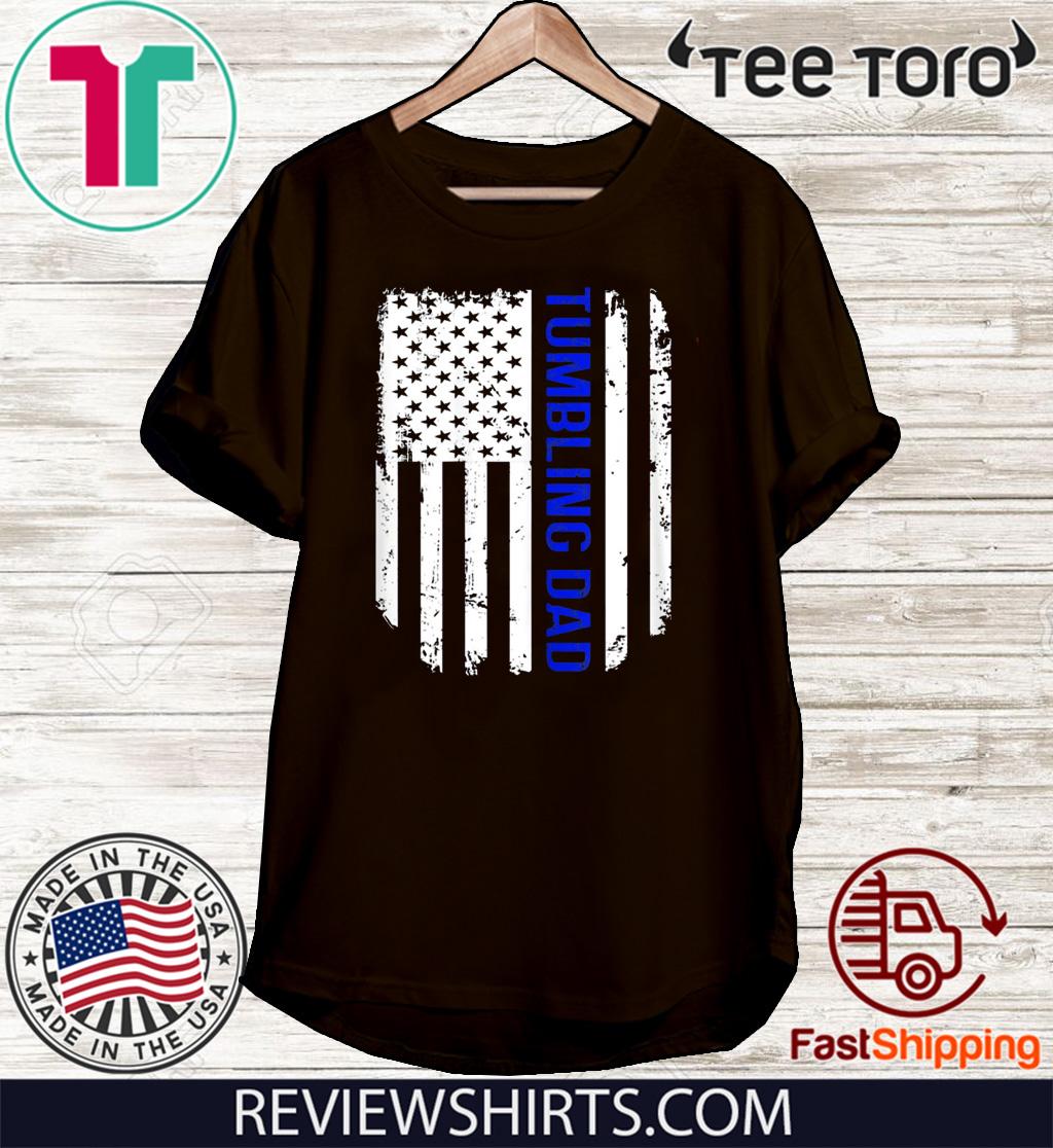 Vintage American Flag Proud Tumbling Dad Tee Shirt