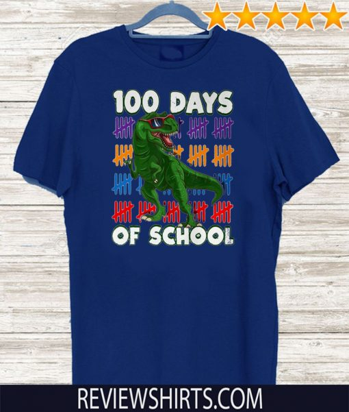 100 Days Of School 100th Day Dino Unisex T-Shirt
