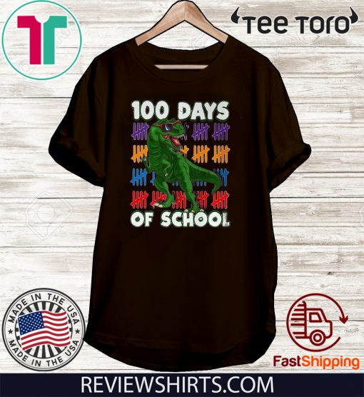 100 Days Of School 100th Day Dino Unisex T-Shirt