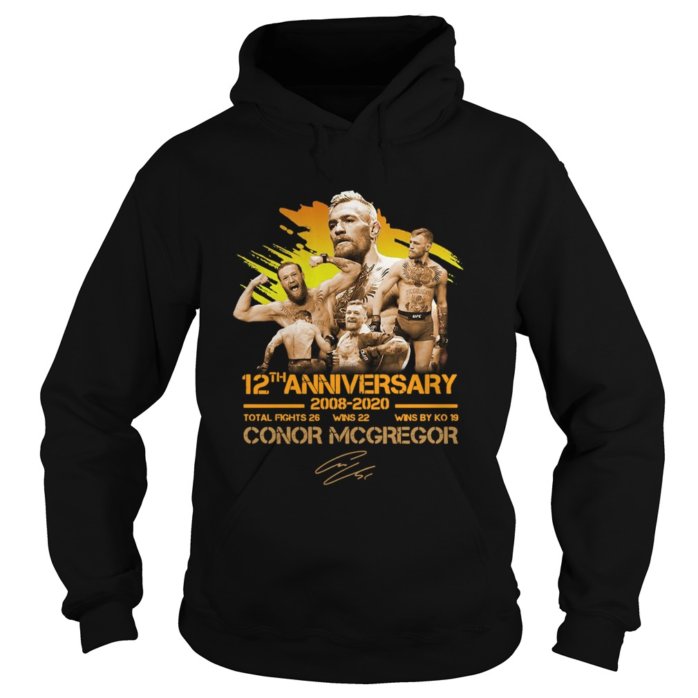 12th anniversary 20082020 Conor McGregor  Hoodie