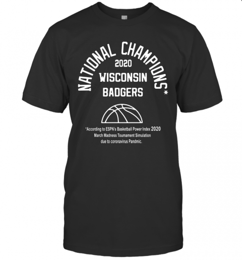 2020 National Champions Wisconsin Badgers T-Shirt Classic Men's T-shirt