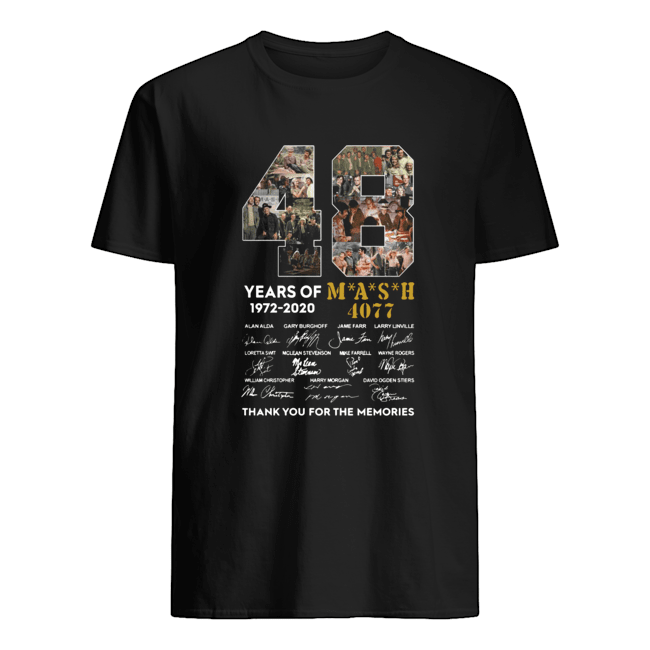 48 years of 1972-2020 mash 4077 signatures thank you for the memories Classic Men's T-shirt
