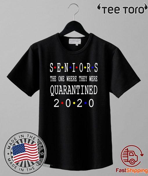Class Of 2020 Graduation Senior Funny Quarantine Shirt T-Shirt- Senior 2020 Shit Getting Real Shirt