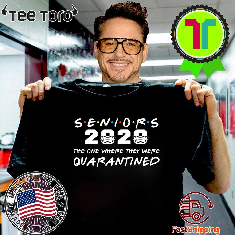 Seniors 2020 The One Where They Were Quarantined Graduation 2020 T-Shirt