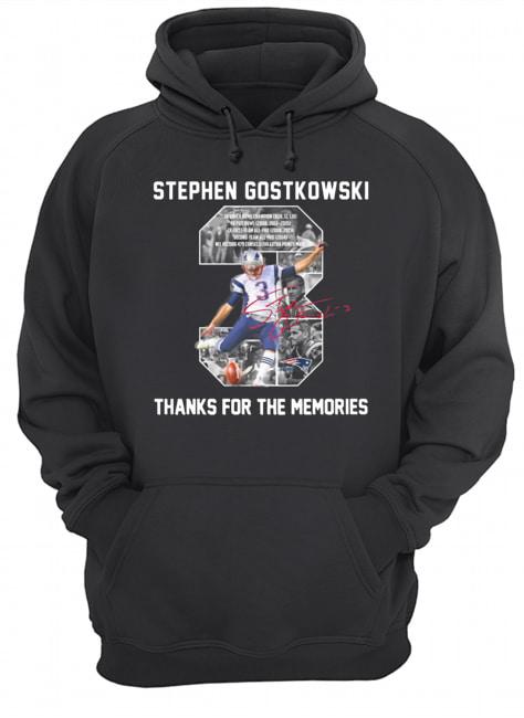 Stephen gostkowski 3 signature thanks for the memories  Unisex Hoodie